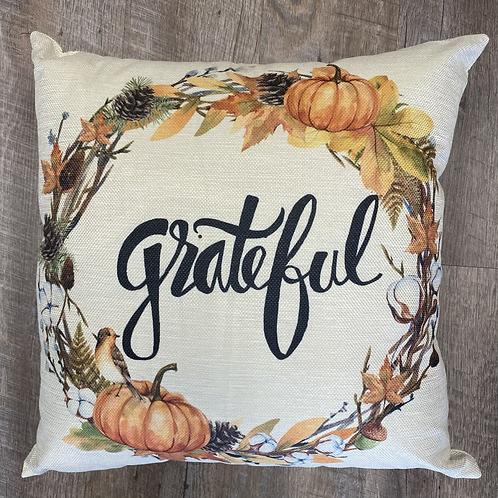 Grateful Orange Pillow