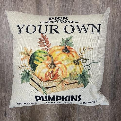 Pick your own pumpkin Pillow