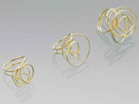 3 Gold Rings, Yorkshire Sculpture Park, 2007
