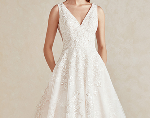 Brautkleid Model. Brautmode