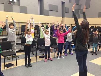 Aurora in rehearsal