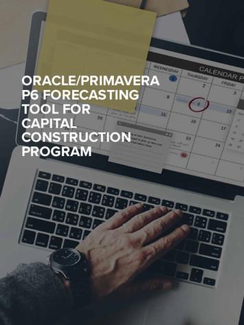 ORACLE/PRIMAVERA P6 FORECASTING TOOL FOR CAPITAL CONSTRUCTION PROGRAM