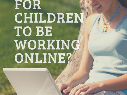 Is it safe for children to be working online?
