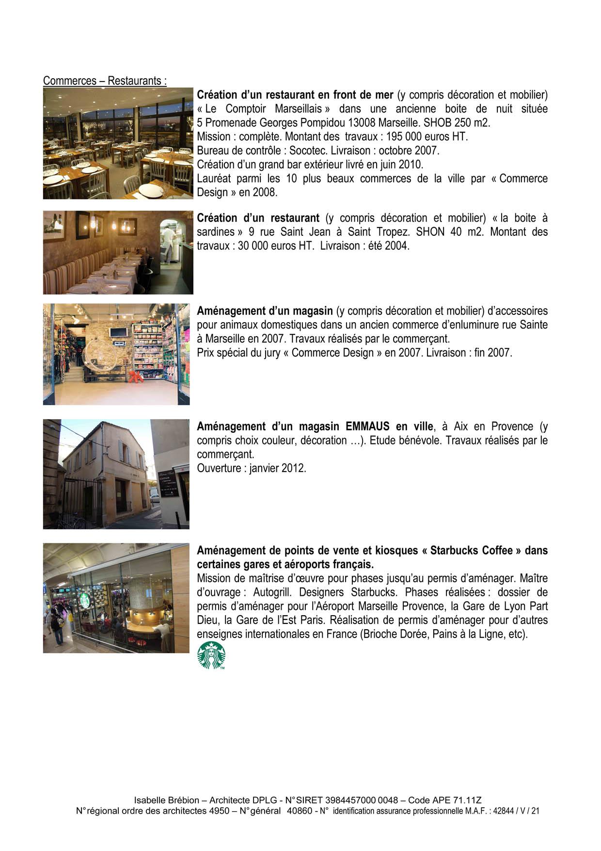 Commerce et restaurant
