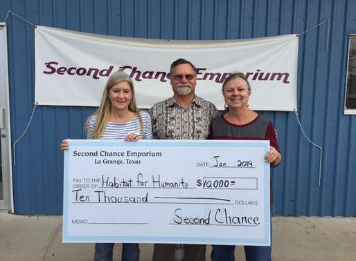 Second Chance Emporium donates to FCHFH