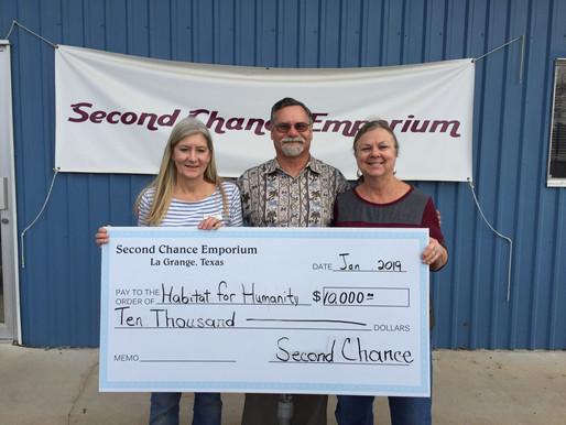 Second Chance Emporium donates to FCHFH