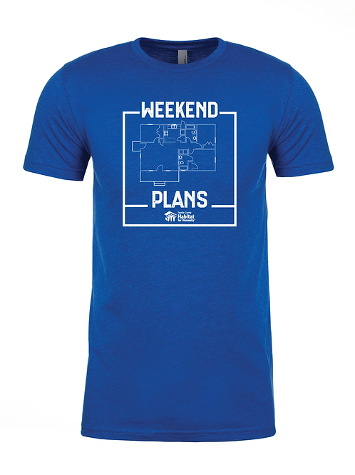 Weekend Plans T-shirt (blue)