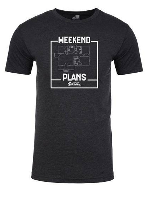 Weekend Plans T-shirt (black)