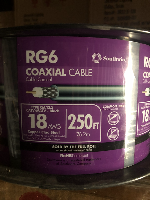 Southwire RG6 Coaxial Cable 250'