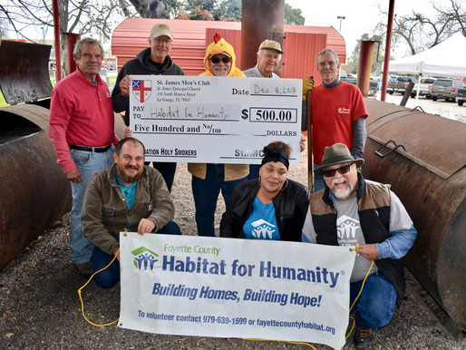 St. James Holy Smokers donate to FCHFH