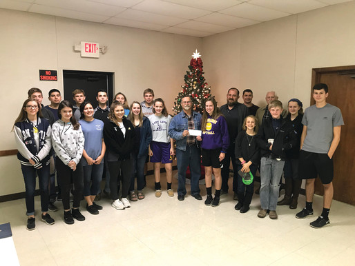 Hostyn Youth groups donate to FCHFH
