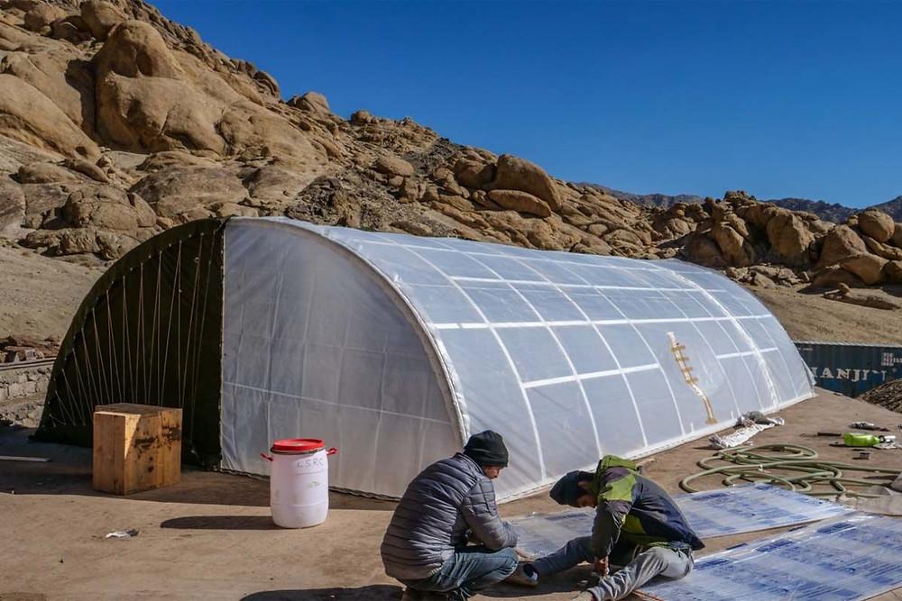 Solar Heated Tents