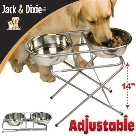 Jack & Dixie Elevated Pet Feeder