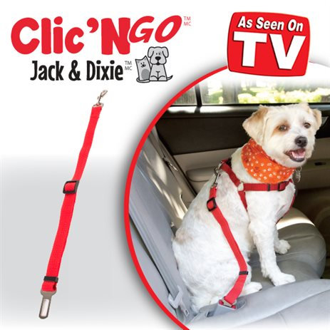 Clic N' Go Universal Pet Seat Belt By Jack & Dixie