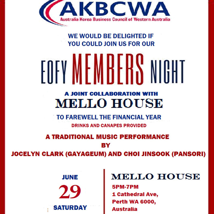 Event Invitation] AKBCWA EOFY Sundowner 2019