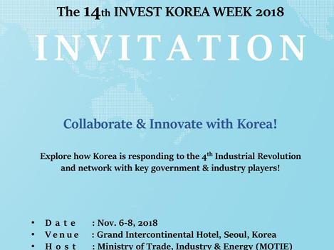 [Invitation] Invest Korea Week 2018