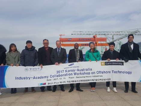 Curtin University Subsea Engineering Students Visit Korea as part of AKF funded program