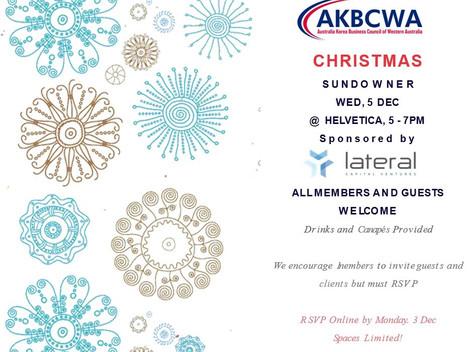Invitation] AKBCWA Christmas Sundowner- Wednesday, Dec 05 2018