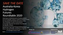 Save the date! Australia-Korea Hydrogen Futures Roundtable 2020