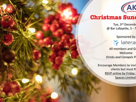 Invitation] AKBCWA Christmas Sundowner- Tue 3rd December