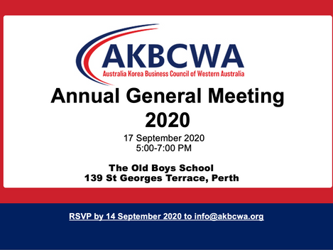 [Event Invitation] AKBCWA Annual General Meeting - 17 September 2020