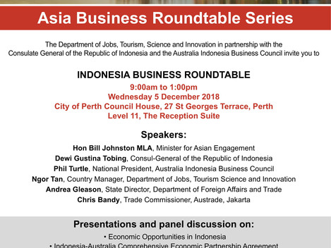 Invitation] INDONESIA BUSINESS ROUNDTABLE