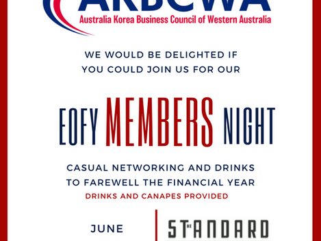 [Event Invitation] AKBCWA End of Financial Year Members Night