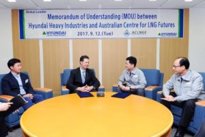 Australian Centre for LNG Futures sign a MOU with Hyundai Heavy Industries (HHI)