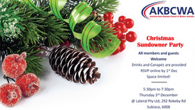 Invitation] AKBCWA Christmas Sundowner- Thu 3rd December