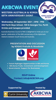 2021 AGM Networking Event - WA & Korea 60th Anniversary Event