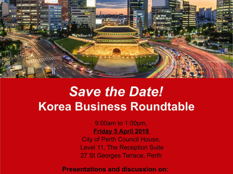 Save the date! - Korea Business Roundtable
