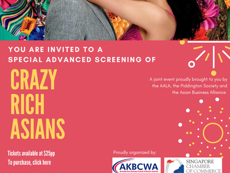 INVITATION] A SPECIAL ADVANCED SCREENING OF CRAZY RICH ASIANS