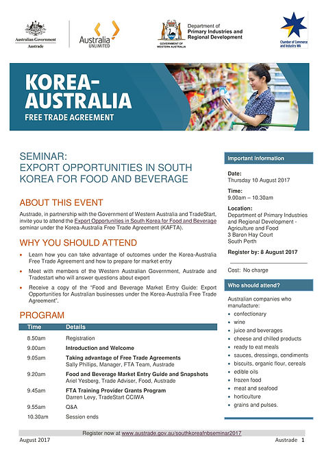 Event Invitation] Export opportunities in South Korea for