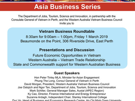 Invitation] Asian Business Series:  VIETNAM — Exciting Opportunities for WA Business