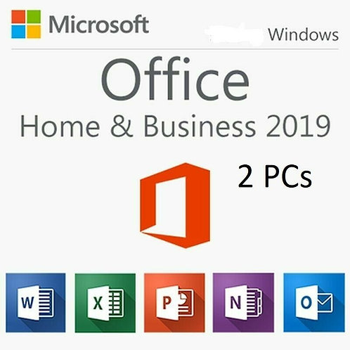 MICROSOFT OFFICE 2019 HOME AND BUSINESS PC 2 USERS