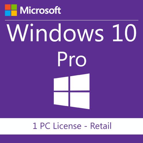MICROSOFT WINDOWS 10 PROFESSIONAL 1 PC