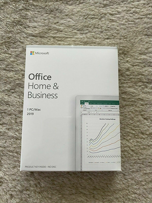 Sealed (Lifetime) Microsoft Office Home and Business 2019 PC / MAC 1 Key Card