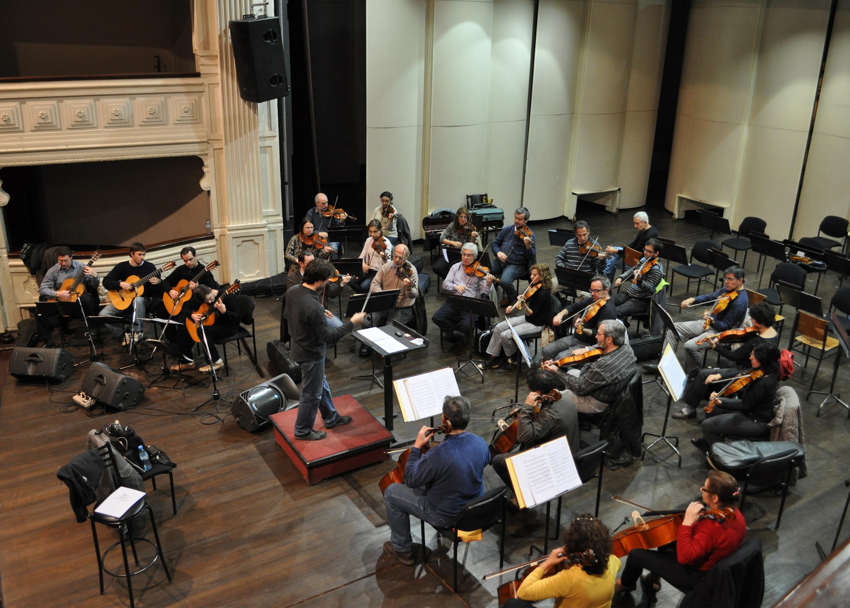 Ensayo con la Orquesta Filarmónica de Mendoza
