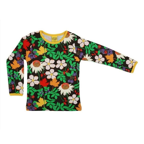 Duns Autumn Flowers Brown Long Sleeved top