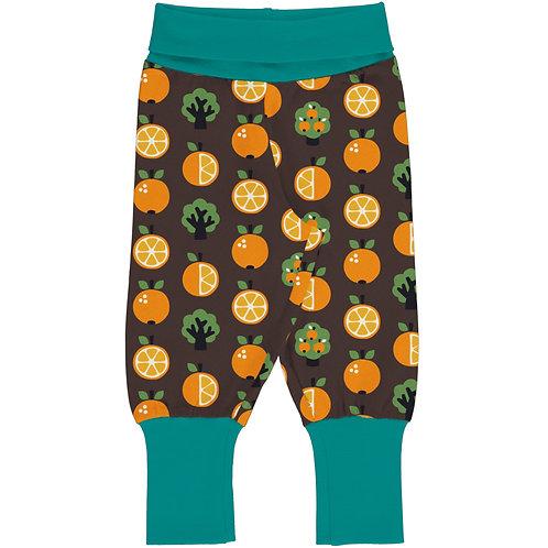 Maxomorra Orange Rib Trousers