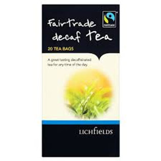 Lichfields Fairtrade Decaf Tea 20 Tea Bags 40g