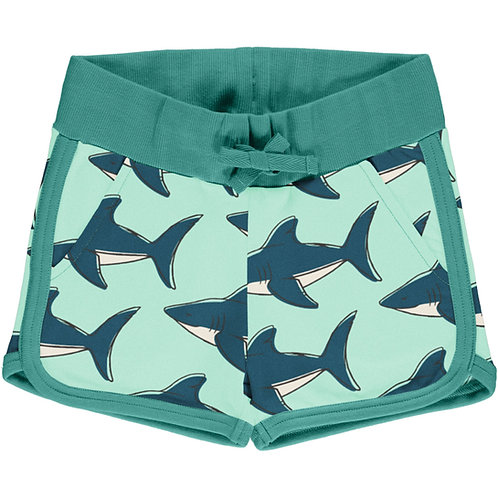 Maxomorra Shark sweatpant runner Shorts