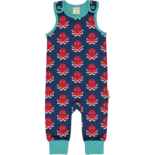 Maxomorra Octopus Playsuit/dungarees