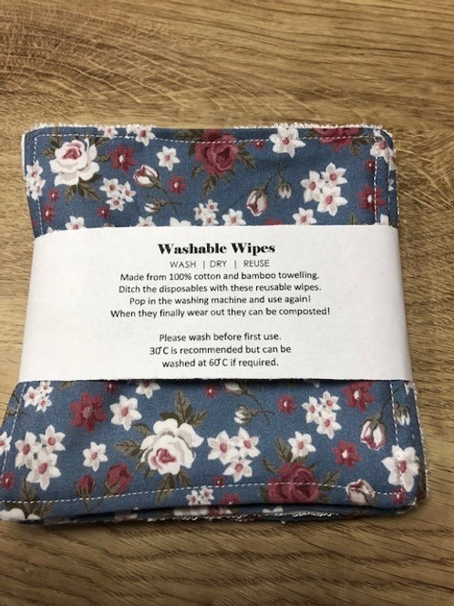 Reusable Bamboo Washable Wipes large pack of 5