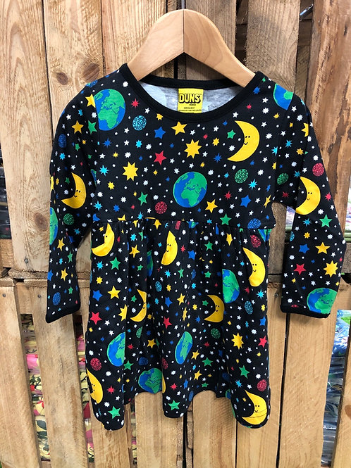 Duns Mother Earth Black Long Sleeved Dress