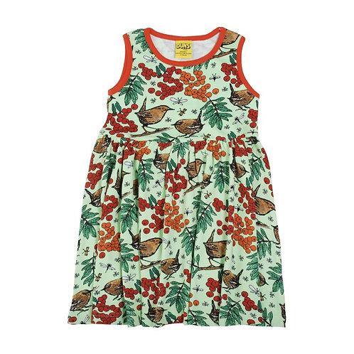 Duns Rowanberry Green Sleeveless twirl/gather dress