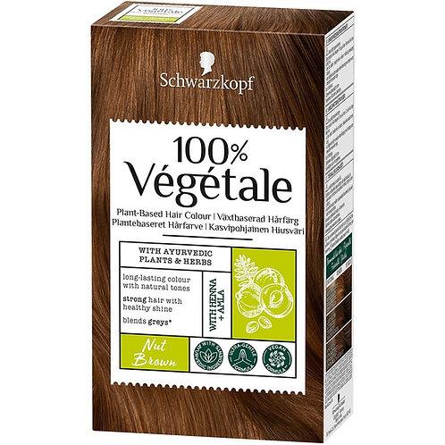 Schwarzkopf 100% Vegetale Plant-Based Permanent Hair Colour :Nut Brown