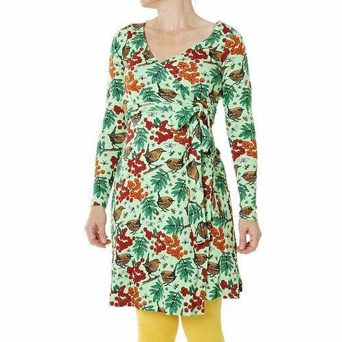 Duns Rowanberry Long Sleeved Wrap Dress