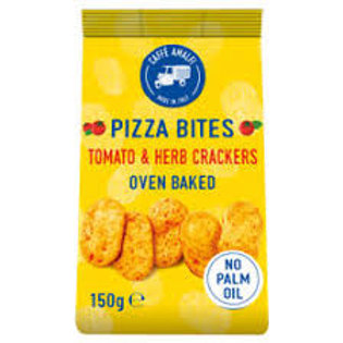Caffe Amalfi Pizza Bites Tomato and Herb Crackers 150g