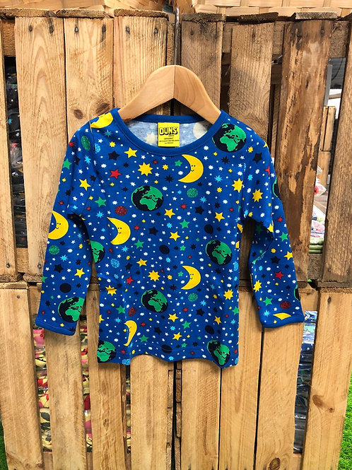 Duns Mother Earth Blue Long Sleeved top